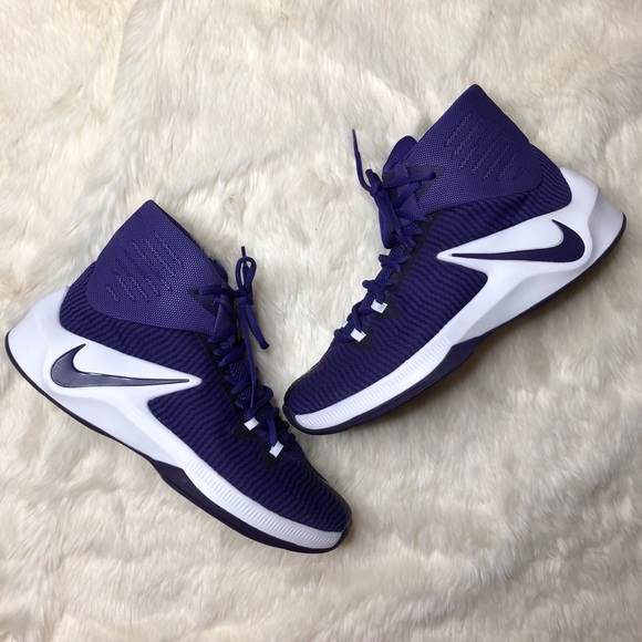 new styles 6a402 1868b Nike Zoom Clear Out Basketball Shoes White Purple